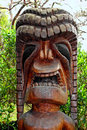Tiki wood carving Stock Image