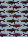 Tilable Fish Pattern Royalty Free Stock Photo