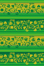 Tilable floral pattern with clover Royalty Free Stock Photos