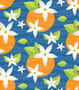 Tilable Orange Blossom vector Pattern Royalty Free Stock Photo