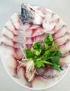 Tilapia fish slice