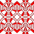Tile abstract seamless red color pattern Stock Photography