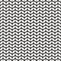 Tile black and white knitting vector pattern