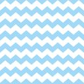 Tile chevron vector pattern with pastel blue and white zig zag background Royalty Free Stock Photo