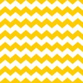 Tile chevron vector pattern with yellow and white zig zag background Royalty Free Stock Photo