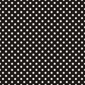 Tile dark vector pattern with white polka dots on black background Royalty Free Stock Photo