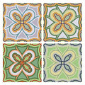 Tile decorative four different color arrangements Royalty Free Stock Photo