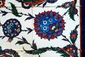 Tile Detail from wall of Selimiye Mosque, Edirne, Turkey Royalty Free Stock Photo