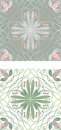 Tile with floral motive Royalty Free Stock Photo