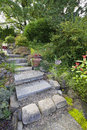 Tile Garden Stair Steps Stock Image