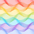 Tile with horizontal rainbow waves in pastel colors Royalty Free Stock Photography