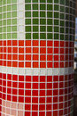 Tile mosaic backgrounds two different color background texture designs Stock Image