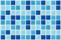 Tile mosaic square blue texture background decorated with glitte Royalty Free Stock Photo