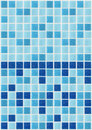 Tile mosaic square blue texture background decorated with glitter Royalty Free Stock Photo