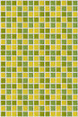 Tile mosaic square green yellow texture background Royalty Free Stock Photo