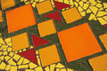 Tile mosaic surface bright colourful Royalty Free Stock Photography