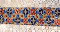 Tile mosaic wall Royalty Free Stock Image