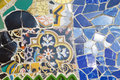 Tile mosaic wall in barcelona catalunya spain Stock Photos