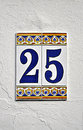 Number twenty five Royalty Free Stock Photo