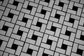 Tile pattern a picture of in black and white Royalty Free Stock Photos