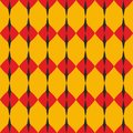 Tile red, yellow and black vector pattern or website background Royalty Free Stock Photo