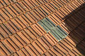 Tile roof at porto portugal Stock Image