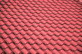 Tile roof it s photo of a ceramic red Royalty Free Stock Images