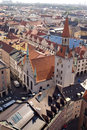 Tile roofs of Munich, Germany (2) Royalty Free Stock Photos