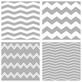 Tile vector chevron pattern set with white and grey zig zag background Royalty Free Stock Photo