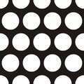 Tile vector pattern with big white polka dots on black background Royalty Free Stock Photo