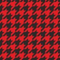 Tile vector pattern with red and black background Royalty Free Stock Photo