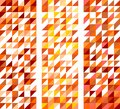 Tile vector pattern set with white, red, yellow, orange and brown triangle background