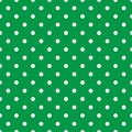Tile vector pattern with white polka dots on mint green background Royalty Free Stock Photo