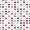 Tile vector pattern with zig zag arrows on white background Royalty Free Stock Photo