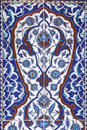 Tile wall decoration rustem pasha mosque istanbul turkey Royalty Free Stock Photo