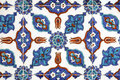 Tile wall decoration rustem pasha mosque istanbul turkey Stock Photo