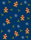 Tileable Gingerbread Men 2 Stock Photos