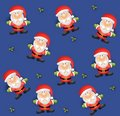Tileable Santa Background Stock Photo