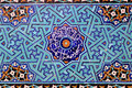 Tiled background oriental ornaments from amir chakhmaq complex in yazd southern iran on april it is a mosque located on a square Royalty Free Stock Photo