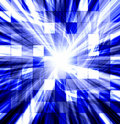 Tiled blue twisted blast Royalty Free Stock Photo
