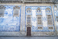 Tiled church in porto portugal traditional Royalty Free Stock Photo