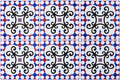 Tiled floor ceramics pattern and texture Royalty Free Stock Photography