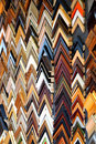 Tiled frames on the wall Royalty Free Stock Photo