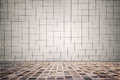 Tiled interior old grungy dirty background Stock Photos