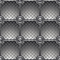 Tiled metal background. Stock Photography