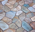 Tiled patio Stock Image