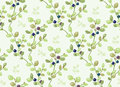 Tiled pattern with blueberry bushes eps Stock Photos
