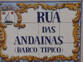 Tiled Portuguese street sign. Royalty Free Stock Photo