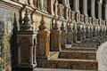 Tiled province alcoves plaza de espana spain square seville spain Royalty Free Stock Photography