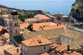Tiled roofs in Dubrovnik Royalty Free Stock Image